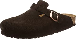 Birkenstock Boston Soft Footbed Mens Dark Brown Shoes