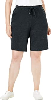 Woman Within Womens Plus Size Sport Knit Short