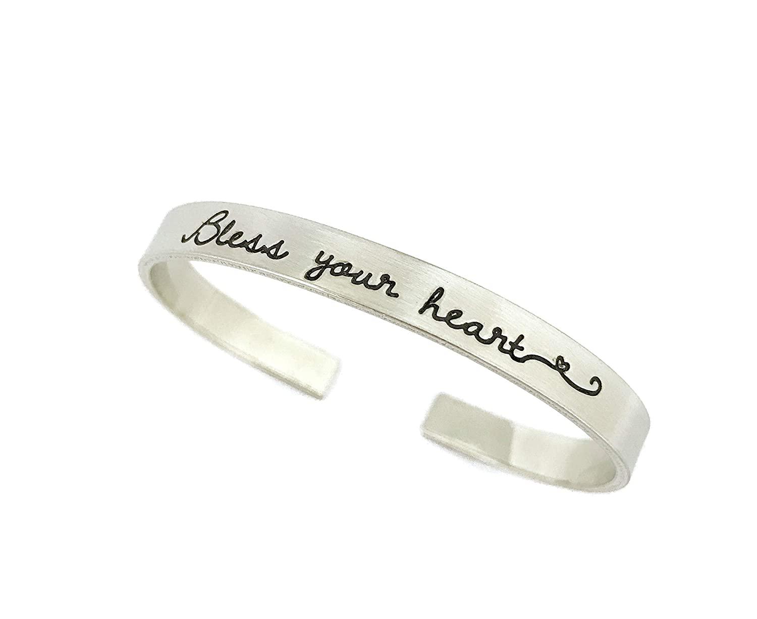 Bless Your Heart - Southern Max 50% OFF Pewter Thick Bracelet Jewelry Al sold out. Cuff