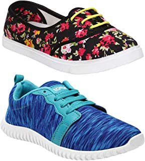 Shoefly Women Multicolour Latest Collection Sports Running Shoes-Pack of 2 (Combo-(2)-611-1162)