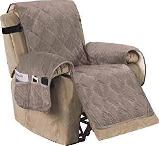 H.VERSAILTEX Recliner Sofa Slipcover Slip Resistant Quilted Velvet Plush Recliner Cover Furniture Protector Seat Width Up ...