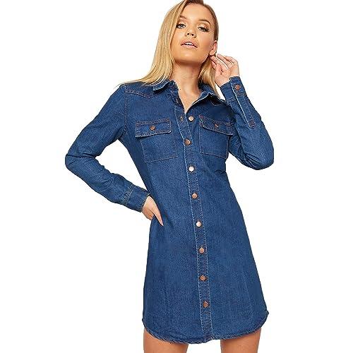 28b277bad2 SS7 New Vintage Denim Blue Shirt Dress Sizes 6-14
