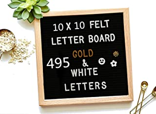 Felt Letter Board 1010 inch DIY Message Board Memo Menu Notice Kitchen Notes Board White & Gold & Pink Coloured Letters Numbers Symbols Emojis for Home,Restaurant,Party,Wedding