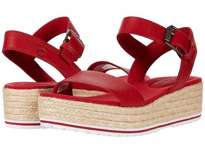 Vintage Shoes in Pictures | Shop Vintage Style Shoes Timberland Santorini Sun Ankle Strap Sandal Medium Red Full Grain Womens Sandals $77.00 AT vintagedancer.com