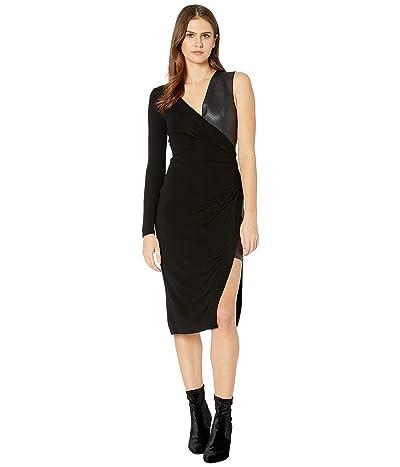 BCBGMAXAZRIA Mixed Media Dress (Black) Women