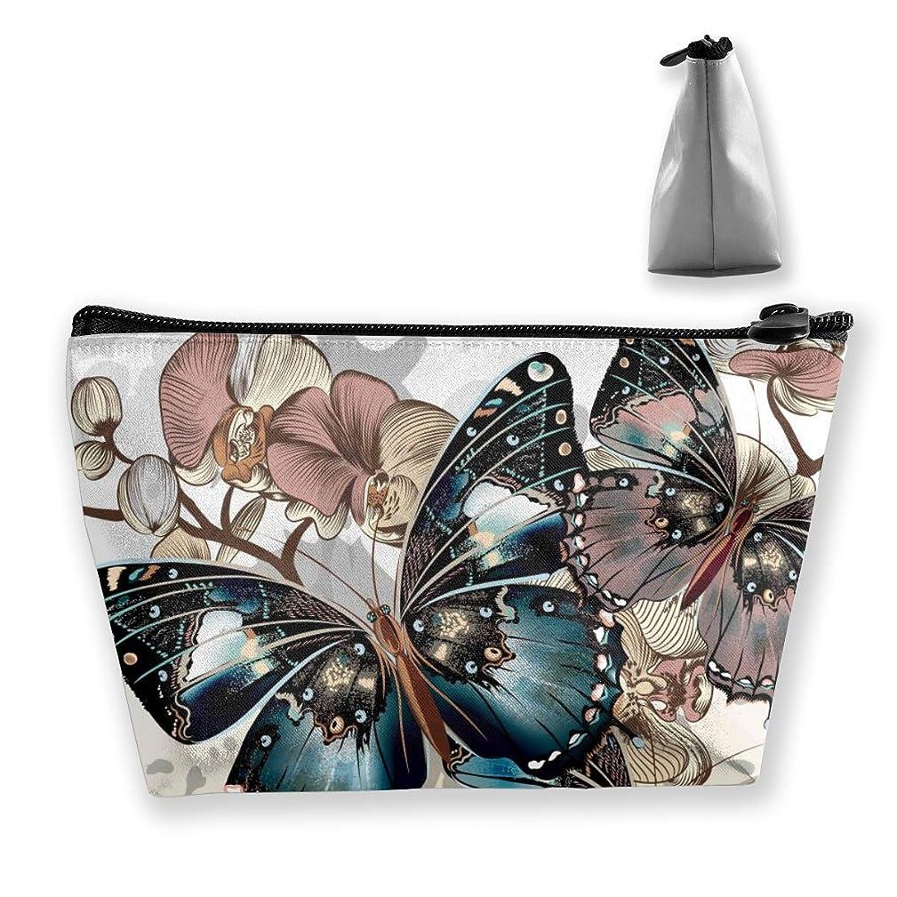 狂人原油ムスタチオSzsgqkj 素晴らしいカラフルな蝶 化粧品袋の携帯用旅行構造の袋の洗面用品の主催者