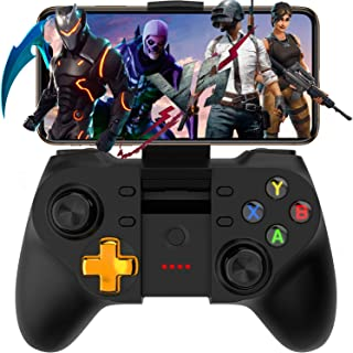 Megadream Mobile Game Controller for PUBG & Fornite, Wireless Key Mapping Shooting Fighting Racing Gamepad Joystick for iOS Android iPhone iPad Samsung Galaxy Other Phone - No Simulator Needed