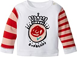 Burberry Kids - Mini Rose Stripe Long Sleeve Tee (Infant/Toddler)