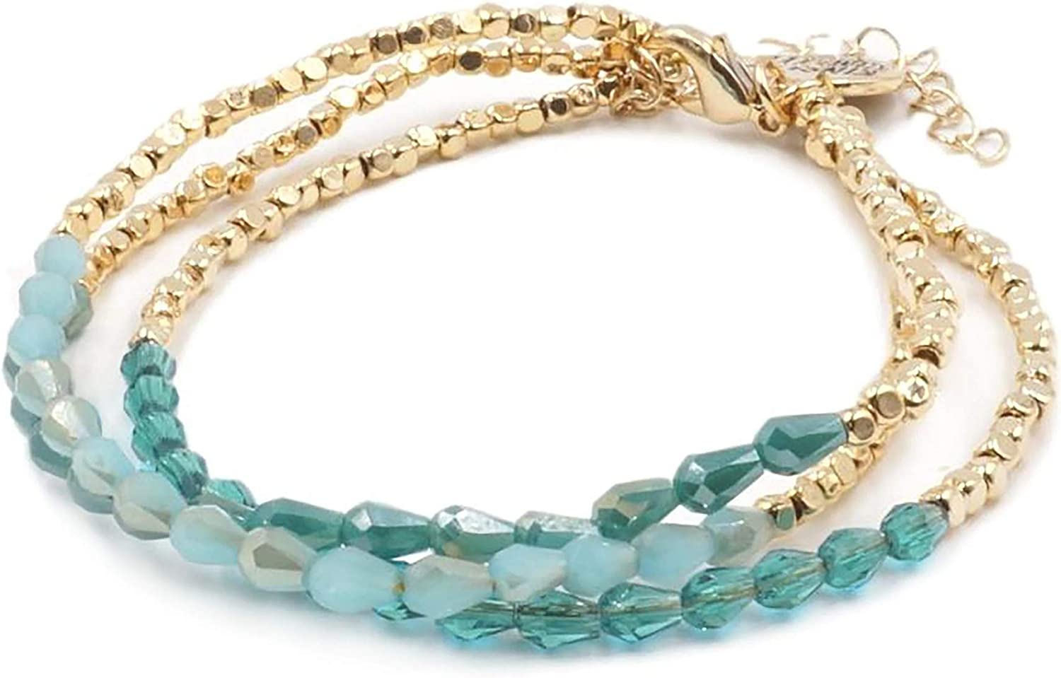 Kinsley Armelle Spring 25% OFF new work one after another Trinity Collection - Azure Bracelet