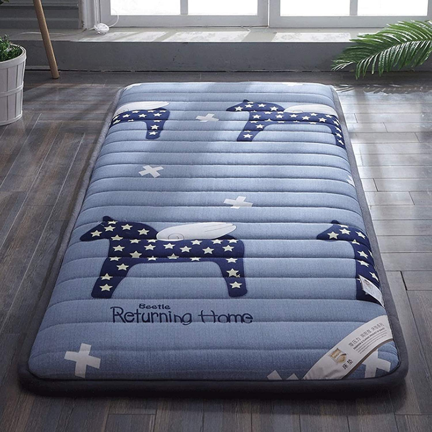 Cotton Old Coarse Cloth Mattress Thick Padded Student Dormitory Bedroom Sleeping Pad (color   1, Size   120X200cm)