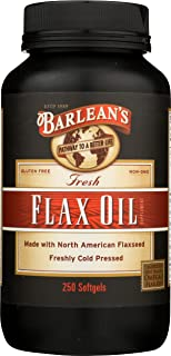 Fresh Flax Oil Cold Pressed North American Flaxseed (250 Softgels)