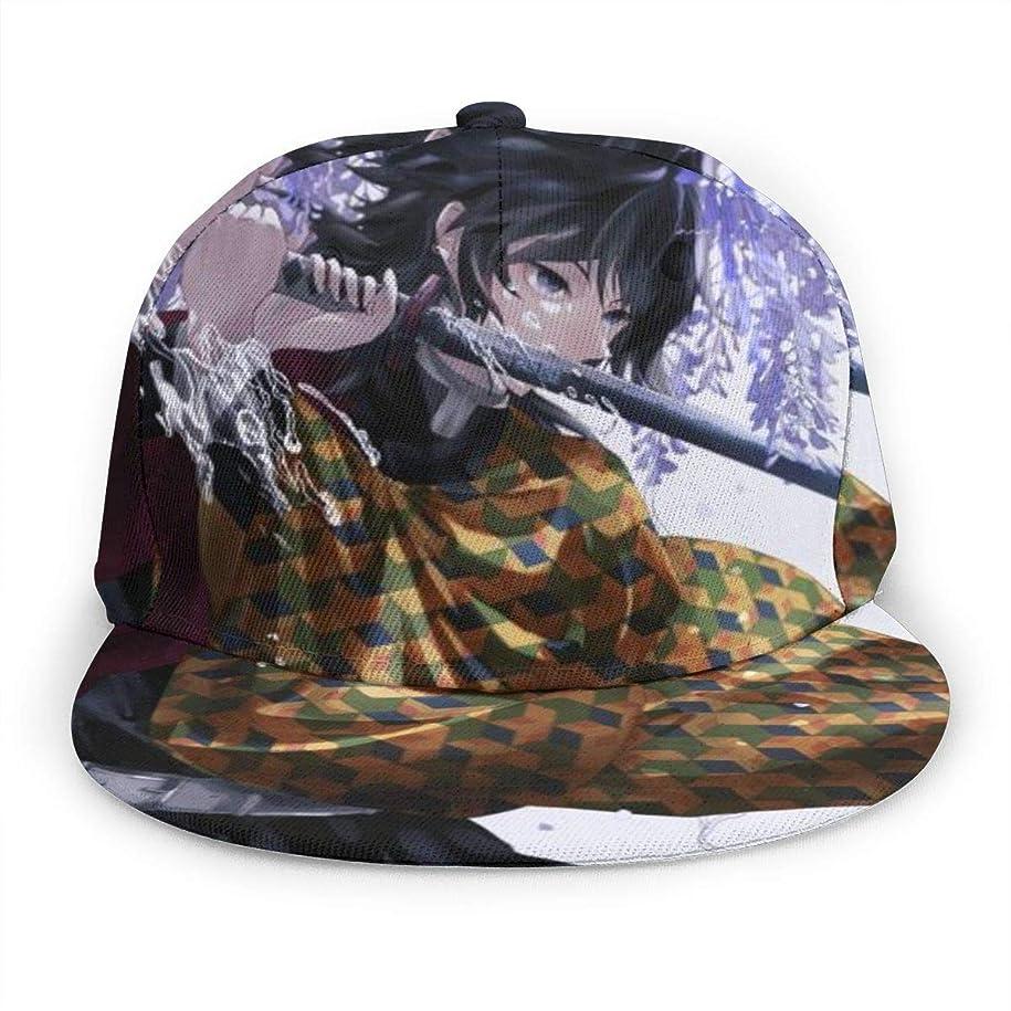 蓋バング製油所きめつのやいば スポーツキャップユニセックスクラシックアジャスタブルハット 通気性 野球帽 Black