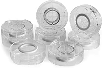 """Slipstick CB658 Stack-Its 1 Inch Adjustable Bed Risers/Furniture Risers (Set of 8) Lifts Height 1"""", 2"""", or 3"""" - Clear Heav..."""