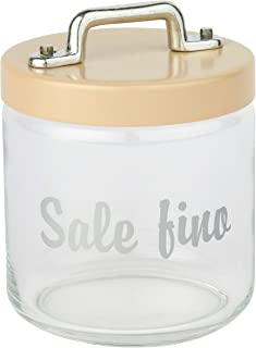 Italo Ottinetti Glass Storage Jars with Hermetic Lid Beige 0.75 Litre Sf, one Size