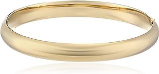 """14k Gold-Filled Polished Hinged Yellow Bangle Bracelet, 2.6"""""""