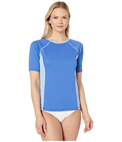 Speedo Short Sleeve Swim Tee (Hyper Blue) Women
