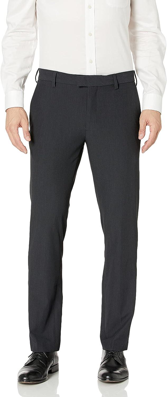 Van Heusen Men's Slim Max 87% Excellence OFF Fit Dress Front Flat Flex Pant