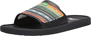 Sanuk Mens 1106776 Beachwalker Slide Tx Black Size: