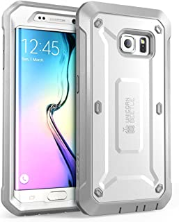 SupCase [Unicorn Beetle Pro Series Case for Galaxy S6 Edge (2015 Release), Full-Body Rugged Hybrid Protective Cover with-Out Screen Protector (White)