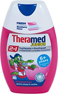 Theramed 2in1 Junior Strawberry Toothpaste and Mouthwash