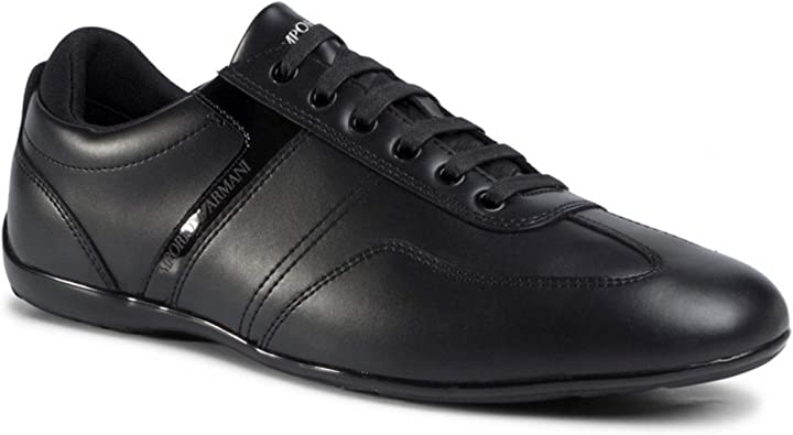 Scarpe emporio armani smart pelle nero trainer B08BY59Q94