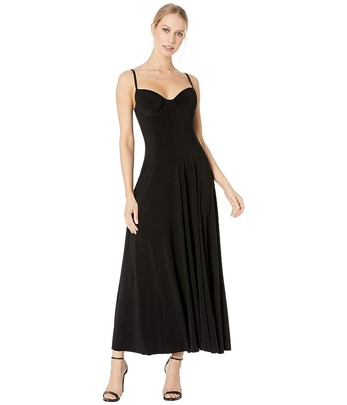 KAMALIKULTURE by Norma Kamali Underwire Gown (Black) Women