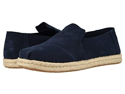 TOMS Deconstructed Alpargata Rope (Navy Suede 2) Women