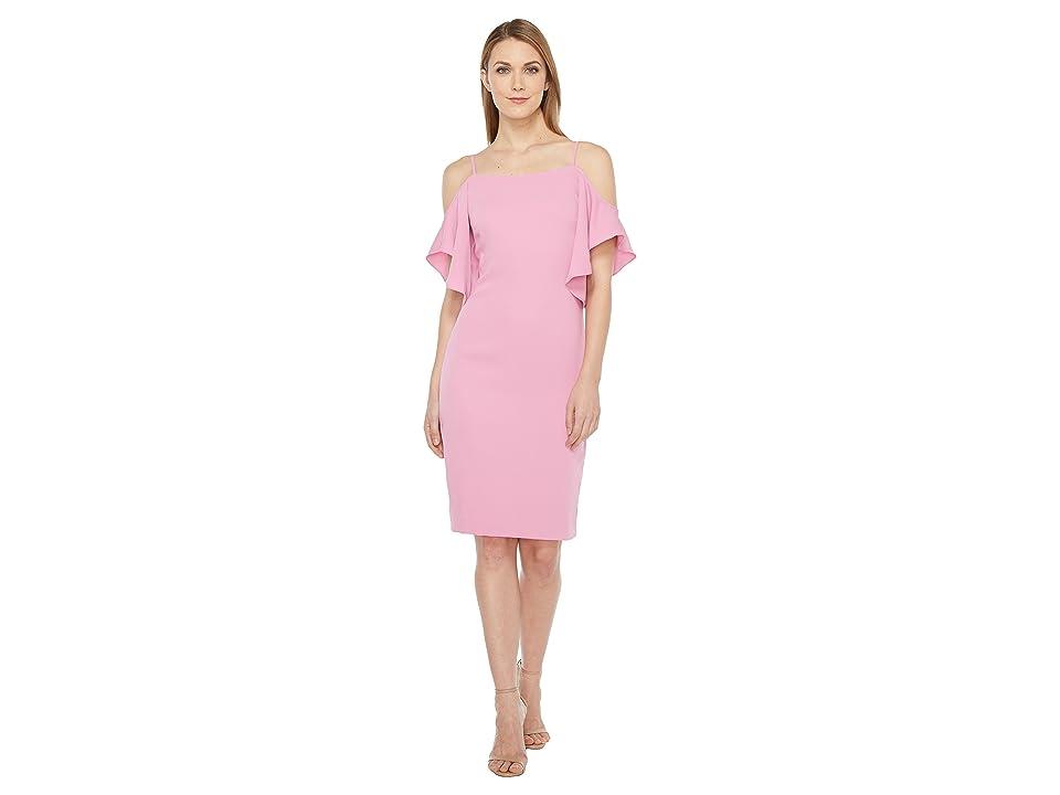 Laundry by Shelli Segal Off the Shoulder w/ Flutter Sleeve Cocktail Dress (Crocus) Women