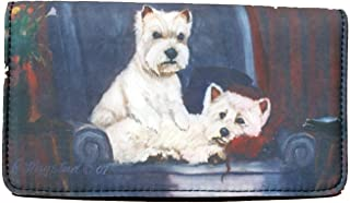 West Highland White Terrier Dog 4 1/4'' x 7 1/4'' wallet by Ruth Maystead