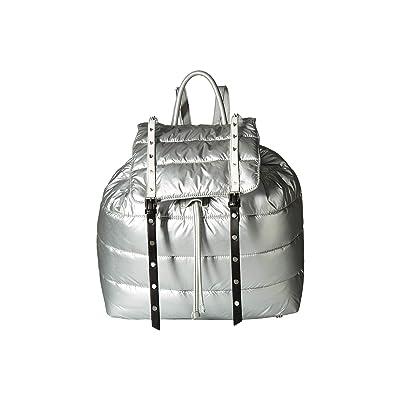 Sam Edelman Branwen Nylon Backpack (Silver/Black Nylon) Backpack Bags