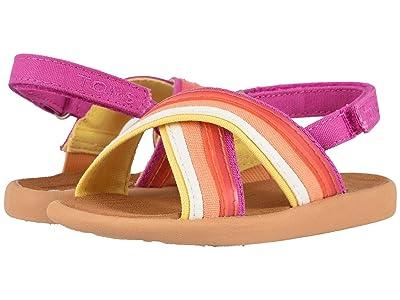 TOMS Kids Viv (Toddler/Little Kid) (Persimmon Multi Horizon Canvas/Translucent) Girls Shoes