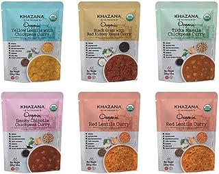 Sponsored Ad - Khazana ORGANIC Ready to Eat Indian Meals Variety Pack - 6 x 10oz Pouches   Non-GMO, Vegan, Gluten Free & K...