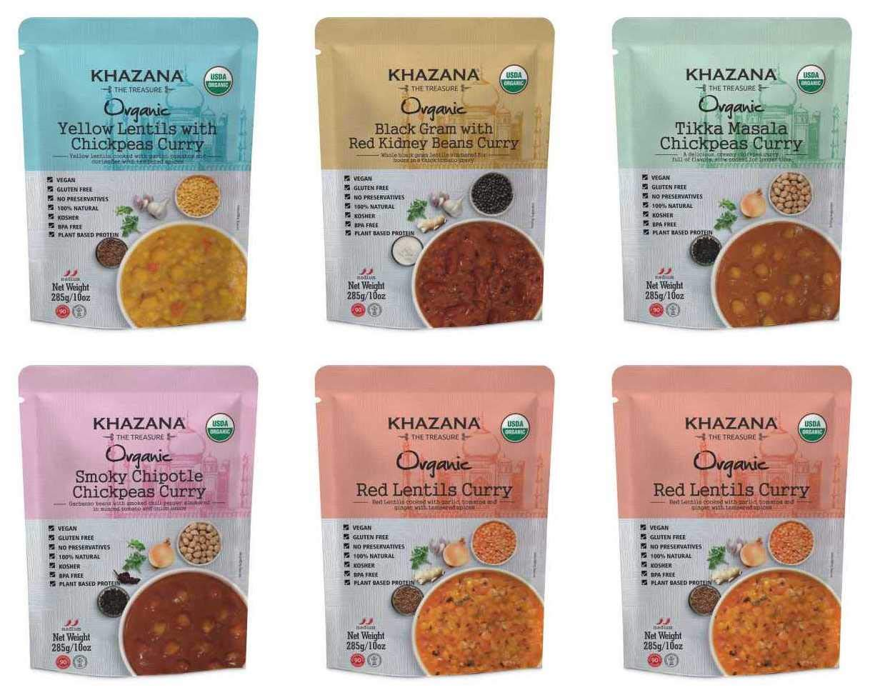 Vegan Organic Ready to Eat Indian Meals Variety All items free depot shipping - Pack 10oz x 6