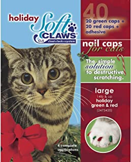 Soft Claws Feline Holiday Colors Pack - Red & Green - Large
