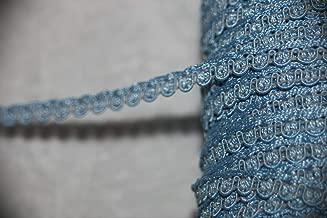 5 Yards Baby Blue Gimp Braid RIC Rac Craft Sewing Assorted Pattern Ribbon Lace Trim 1/4