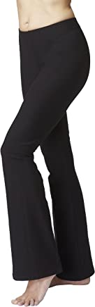 5954c3b58a13b TLC Sport UK Women's Lightweight Slimming Shaping Compression Waisted  Bootcut Bootleg Yoga Flared Trousers Pants Black