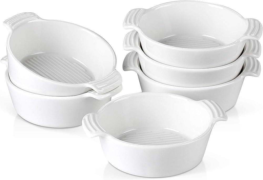 Malacasa , mini teglie ovali  da forno , in ceramica , 6 pezzi BAKE-MINI-008