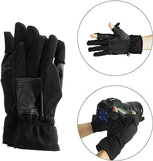 Mekingstudio L Size Water Resistant & Windproof Polar Fleece Winter Gloves for Skiing Riding Photography