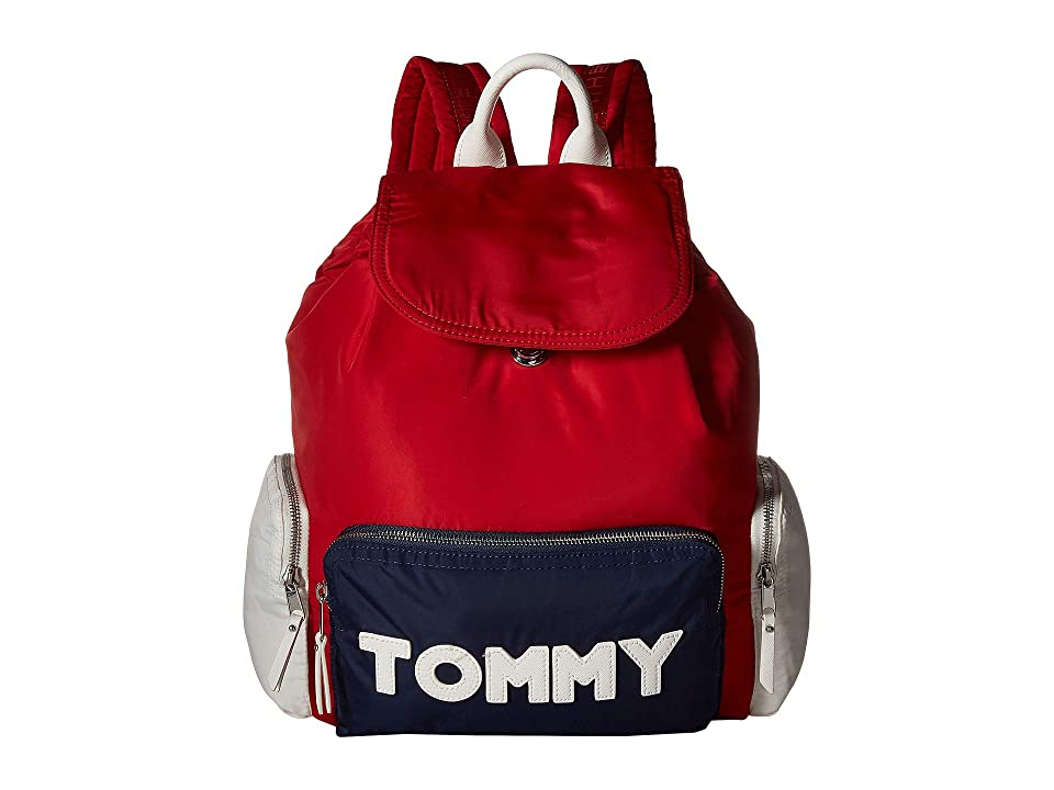 Tommy Hilfiger Tommy Nylon Backpack (Navy/Red) Backpack Bags