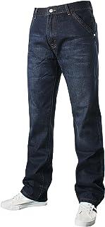 Demon&Hunter 809 Series Hombre Loose Fit Relaxed Ancho Pantalones Vaqueros