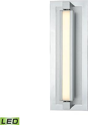 Elk Lighting 85120/LED Vanity Light, Frosted, Polished Nickel, Satin Aluminum