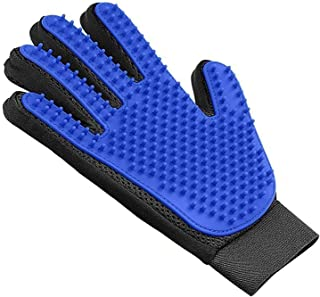 [Newest] Two-Sided Pet Grooming Glove - Efficient Pet Hair Remover Mitt - Gentle Deshedding Brush Glove- Enhanced Five Finger Design - Perfect for Dog & Cat with Long & Short Fur Cleaning Brush