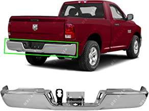 MBI AUTO - Chrome, Steel Rear Bumper Face Bar Shell for 2009-2016 RAM 1500 Pickup W/Out Park & Dual Exhaust 09-16, CH1102367