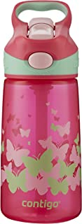 Contigo 康迪克 AUTOSPOUT儿童吸管水杯 14oz(414毫升)Sprinkles Pink Monarch 海外卖家直邮