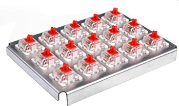 Hcman Teamwolf Mechanical Keyboard Swappable Switches [ KeyCaps ] [ Key Switches ] Replacement Switches (15 pcs) (Red)