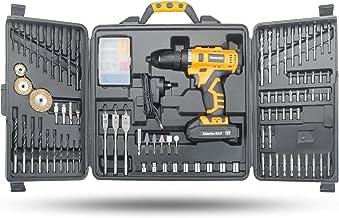 MasterSkil 92 PC Power Tool Kit 18V Cordless Drill Screw Flap Bits Sockets Set