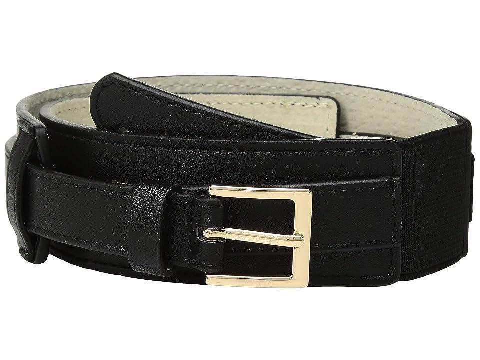 Lodis Accessories Overlay Stretch Belt (Black) Women