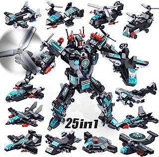 اسباب بازی ساخت ربات VATOS ، 577 PCS ساخت اسباب بازی 25 در 1 STEM یادگیری اسباب بازی خلاق ساختمان آجر مهندسی وسایل نقلیه بلوک کیت برای کودکان 5 6 7 8 9 10 ساله پسران