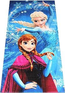 Frozen, the Frozen: toallas para niños con motivos completamente descarados, toallas, toallas de playa, toallas de baño con Anna, Elsa, Olaf, Kristoff y alces Sven, 70x140 cm (magia)