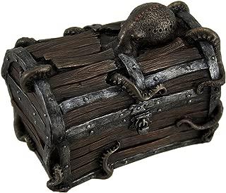 Veronese Resin Decorative Boxes Octopus Escape Decorative Deep Sea Treasure Chest Trinket Box 5 X 4 X 3 Inches Brown